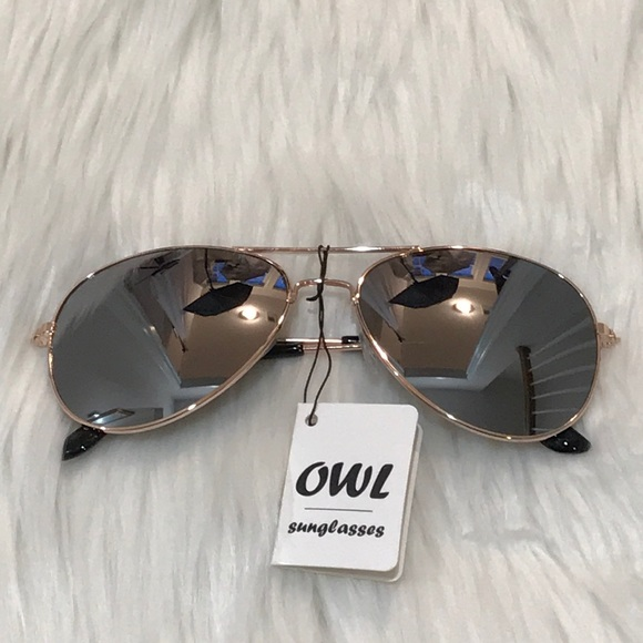 Owl Sunglasses Accessories Gold Frame Aviator Sunglasses With